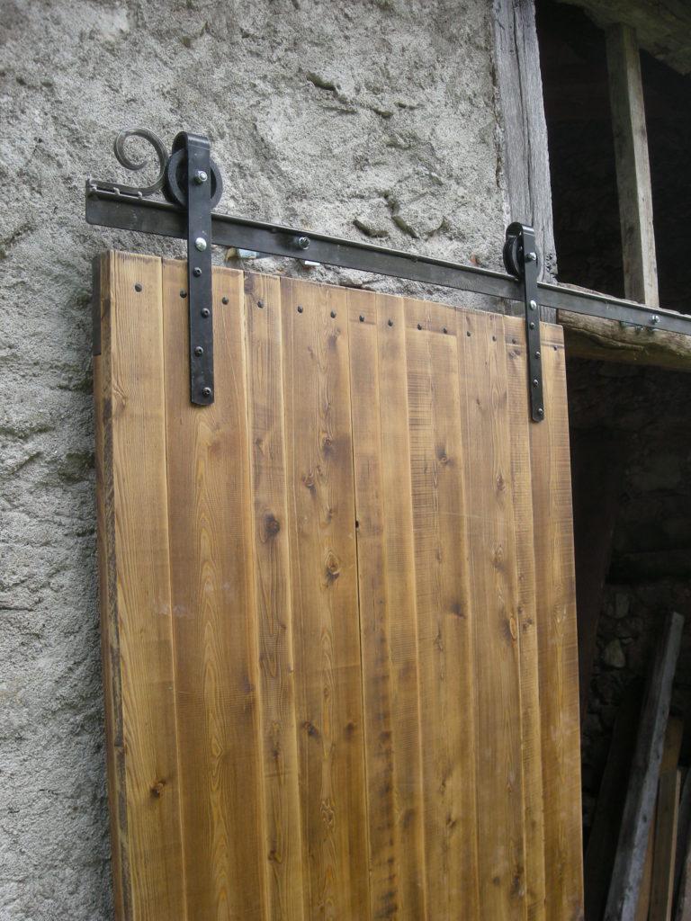 Porte Grange Coulissante Bois porte de grange coulissante - atelier bois de clermont